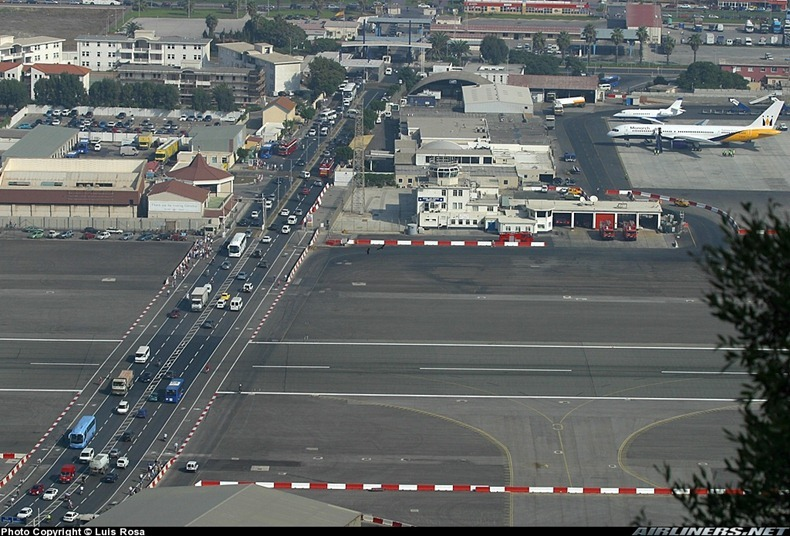 Gibraltar Strange Airport, Where Runway Intersecting a Road 20