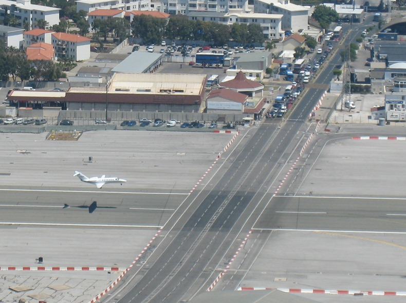 Gibraltar Strange Airport, Where Runway Intersecting a Road 5