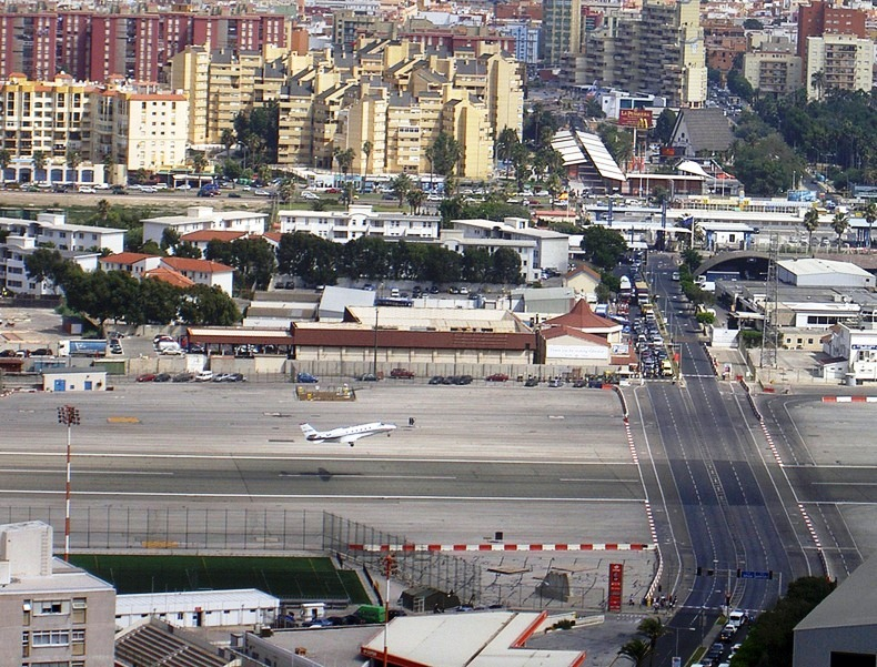 Gibraltar Strange Airport, Where Runway Intersecting a Road 6