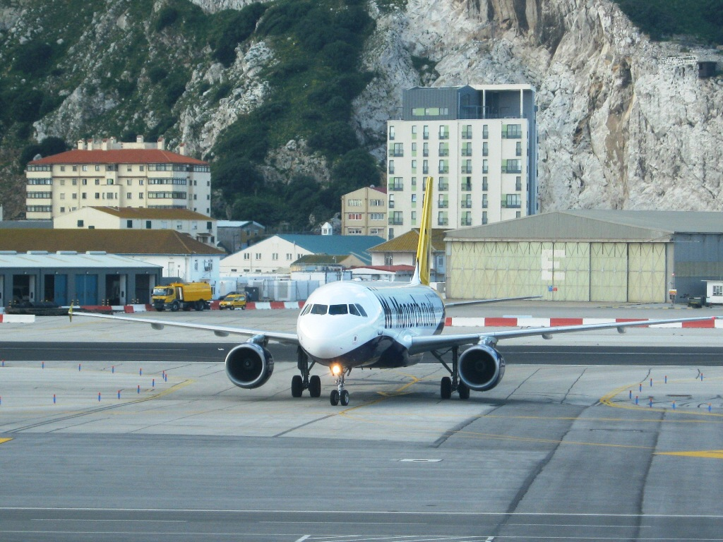 Gibraltar Strange Airport, Where Runway Intersecting a Road 7