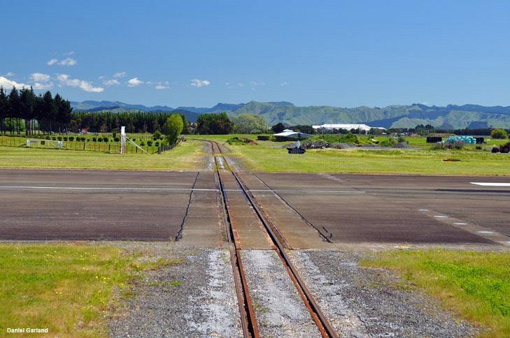 Gisborne Airport Railway Line Intersecting the Runway in New zealand 4