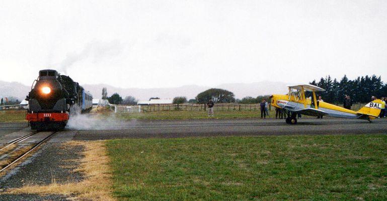 Gisborne Airport Railway Line Intersecting the Runway in New zealand 9