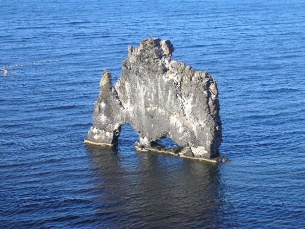 Mysterious Hvitserkur Shaped Rock in the Gulf of Hunafloui 15