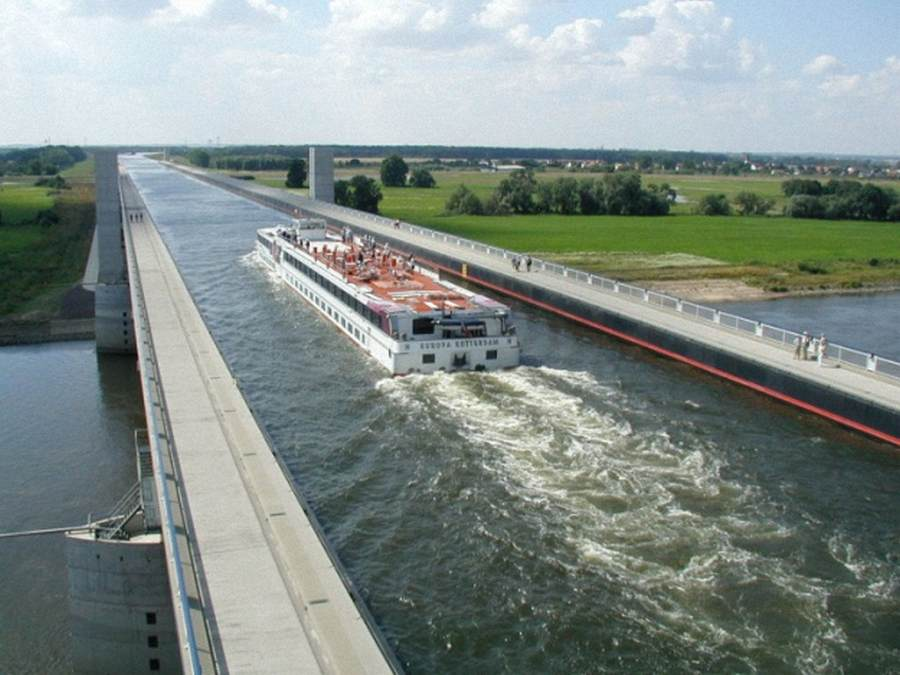 The Incredible Magdeburg Water Bridge in Germany 0