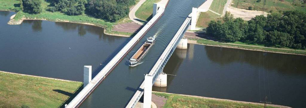 The Incredible Magdeburg Water Bridge in Germany 10