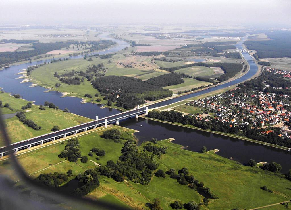 The Incredible Magdeburg Water Bridge in Germany 4