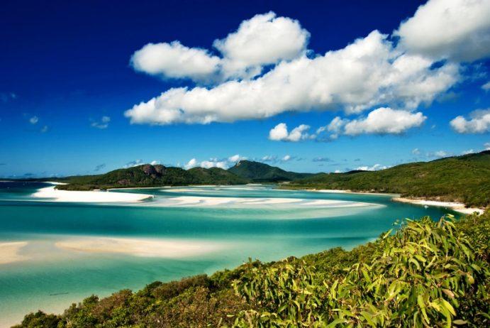 Whitehaven Beach in the Whitsundays Archipelago, Queensland, Australia