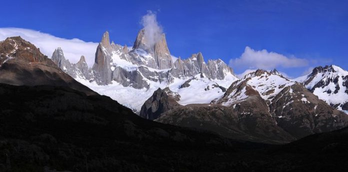 "Breathtaking Natural Mountain ""Fitz Roy"" is a Popular Tourists Destination at the border of Argentina and Chile. 1"