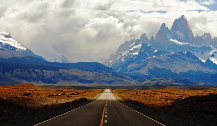 "Breathtaking Natural Mountain ""Fitz Roy"" is a Popular Tourists Destination at the border of Argentina and Chile. 3"