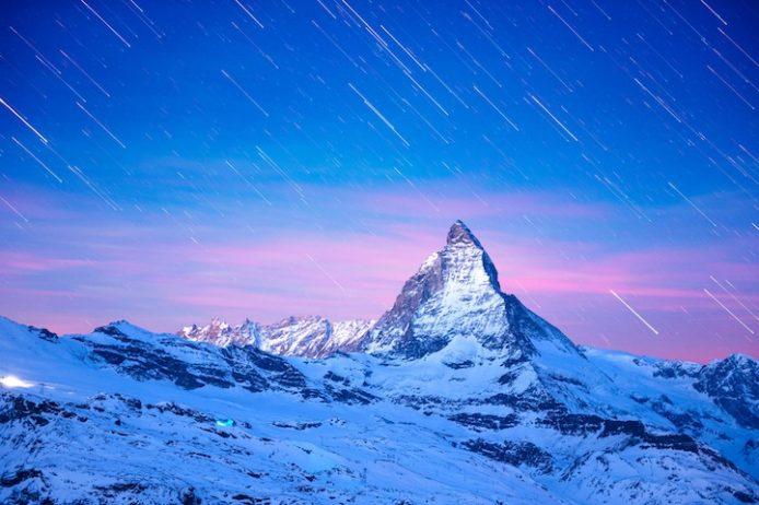 Star Trail over the Matterhorn