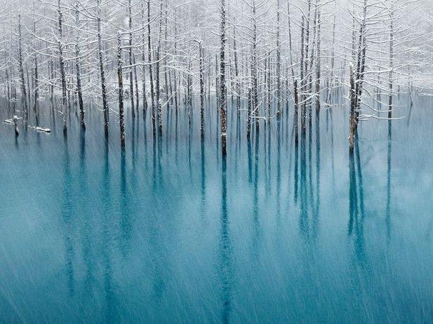 Blue Pond Haikkaido Japan1