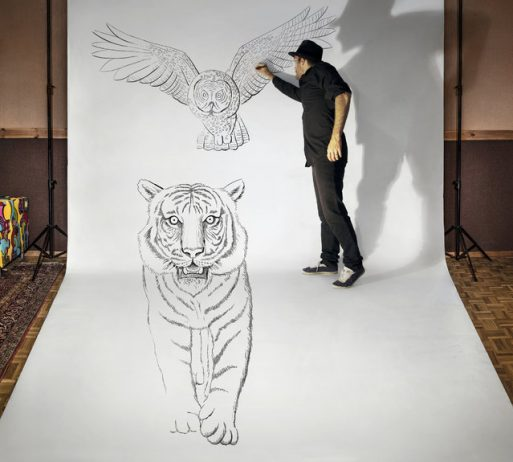 """Magnificent Pencil Drawings of """"Anamorphic Illusions"""""""
