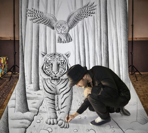 """Magnificent Pencil Drawings of """"Anamorphic Illusions""""1"""