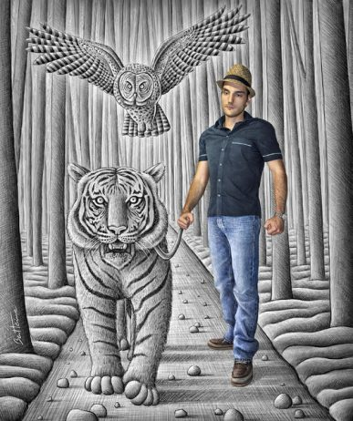 """Magnificent Pencil Drawings of """"Anamorphic Illusions""""4"""