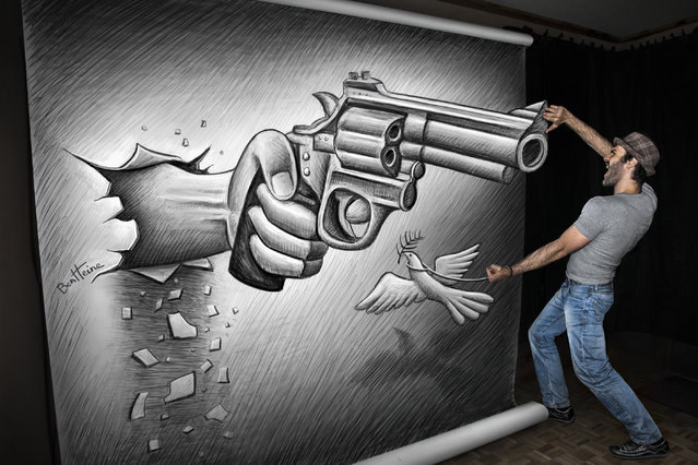 """Magnificent Pencil Drawings of """"Anamorphic Illusions""""7"""