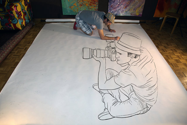 """Magnificent Pencil Drawings of """"Anamorphic Illusions""""8"""