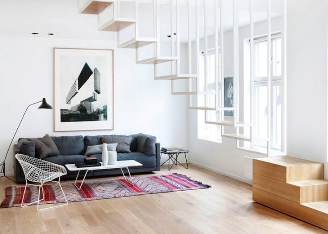 Suspended Staircase Converted into Stunning Versatile Structure.