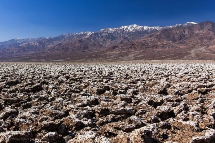 The Salt Pan of Devil's Golf Course Death Valley in California1