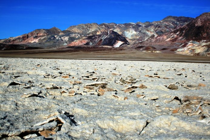 The Salt Pan of Devil's Golf Course Death Valley in California12