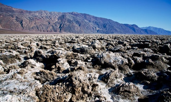 The Salt Pan of Devil's Golf Course Death Valley in California21