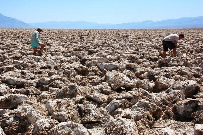 The Salt Pan of Devil's Golf Course Death Valley in California3