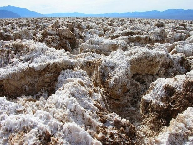 The Salt Pan of Devil's Golf Course Death Valley in California6