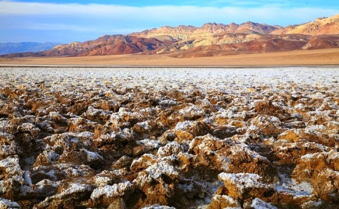 The Salt Pan of Devil's Golf Course Death Valley in California8