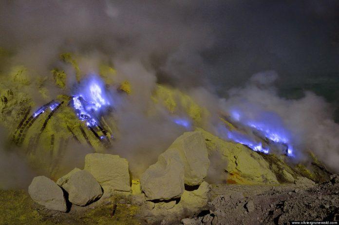 Kawah Ijen volcano solfatara