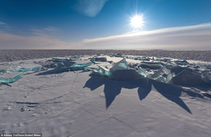 Two-metre-wide cracks in the ice were hidden beneath a blanket of snow during the week-long drive
