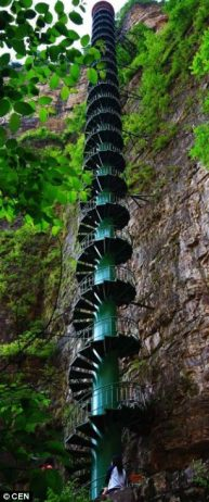 Spiral Staircase in Taihang Mountains, China1