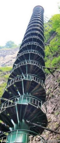 Spiral Staircase in Taihang Mountains, China2