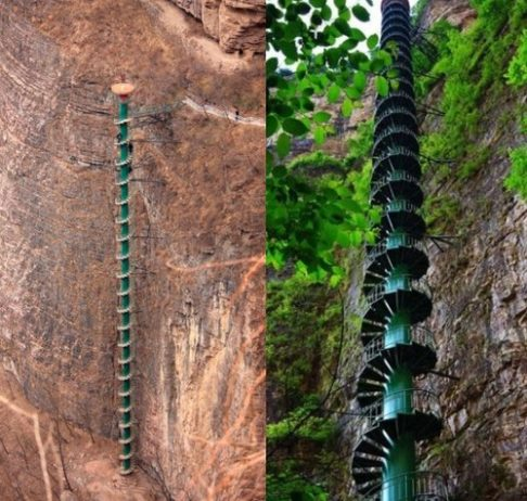 Spiral Staircase in Taihang Mountains, China4