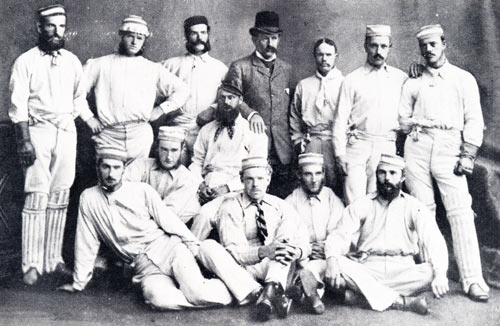 1878 Australian Team and Billy Midwinter sitting in the middle