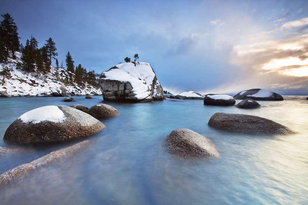 Winter on Bonsai Rock:  Lake Tahoe, Nevada