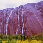 Water fall at Uluru, A Unique Sight Occurs Only for Lucky Tourists