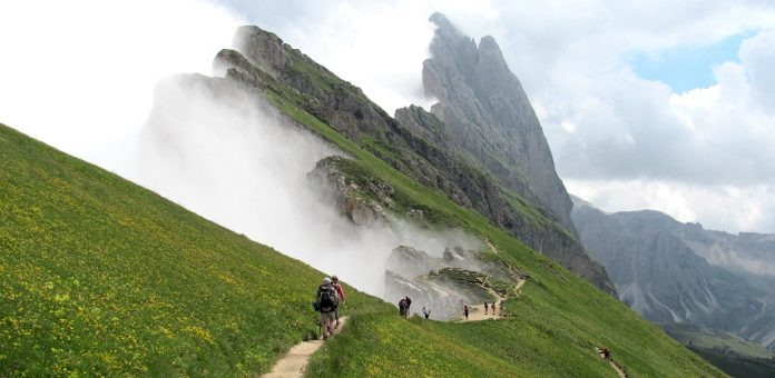 Strolling on Odle Dolomites Mountain Range is an exclusive experience as you get a 360-degree view of rocks transformed thousands of years