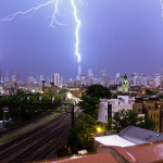Incredible Triple Lightning Strike on Three of Chicago's Tallest Buildings