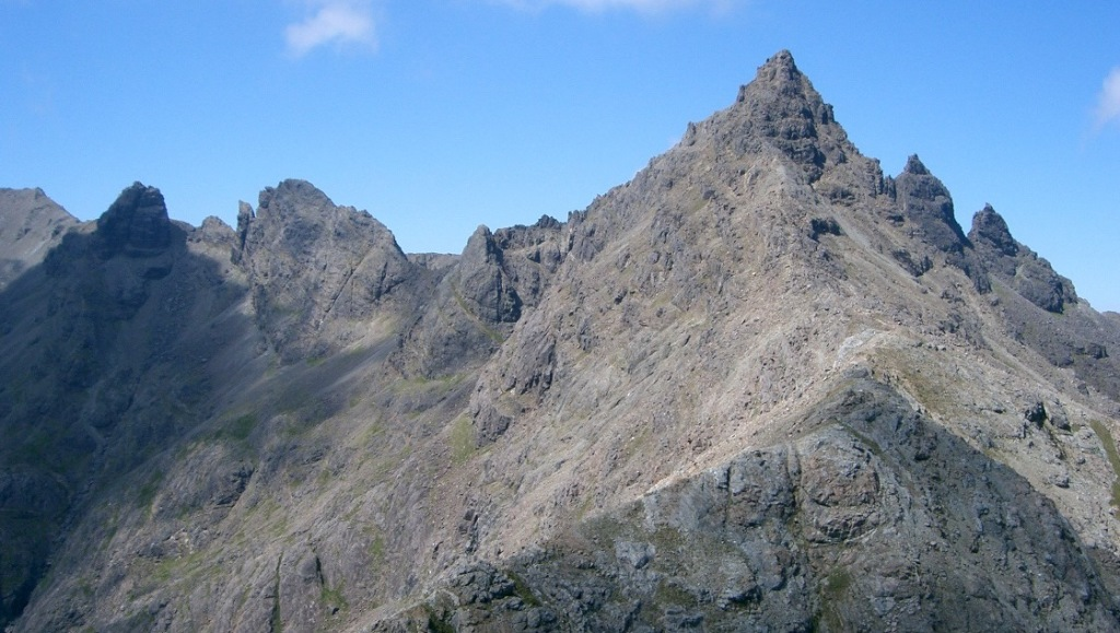 Sgùrr nan Gillean is a 3162 feet (964 m) high mountain in the northern section of the Cuillin range on the Isle of Skye in Scotland.