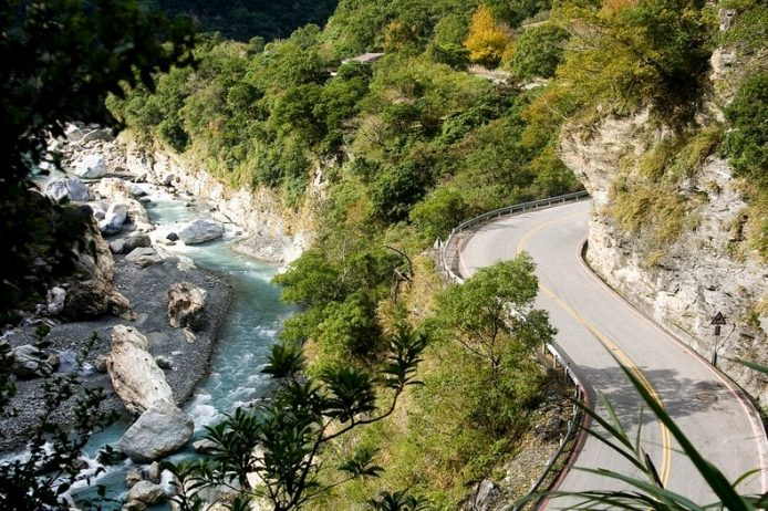 "Taroko Gorge is a famous as ""Marble Gorge"" due to ample supply of marble in the region."