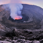 Lava Lake on Top of Mount Nyiragongo, Congo