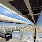 New Windowless Plane Beams in Panoramic View is the Future of Air Travel