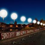 Berlin Wall Being Rebuilt in a Glittering Show of 8,000 Glowing Orbs