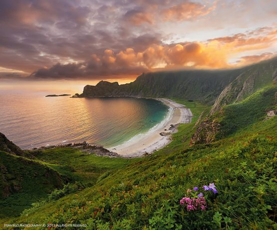 Hoyvika Beach o Andoya Vesteralen in Northern Norway