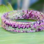 Beautiful Flowers Frozen in Time Inside Handmade Resin Bracelets