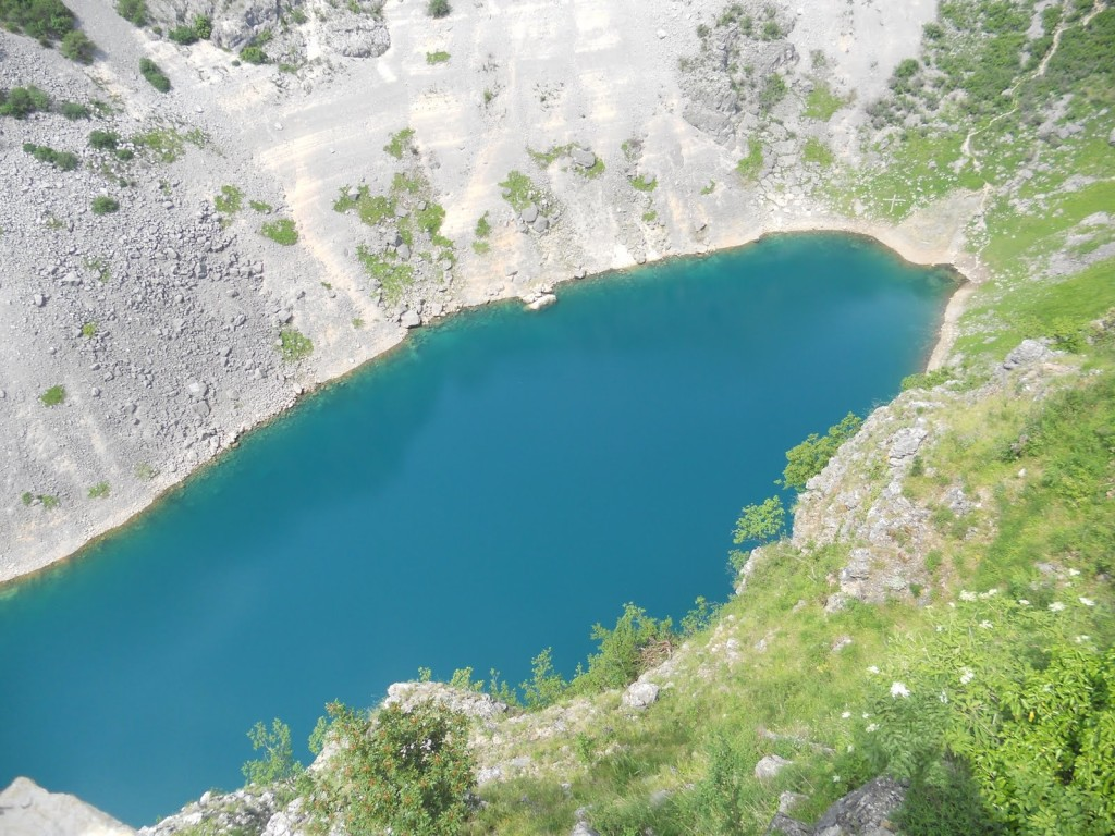 The Blue Lake of Imotski, is a karst lake situated near Imotski in Southern Croatia a widespread destination for hiking and sight-seeing.
