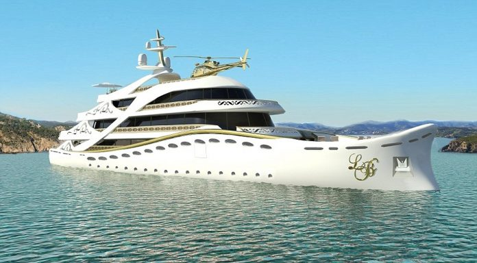 The Luxury Gold MegaYacht Design for Women Only