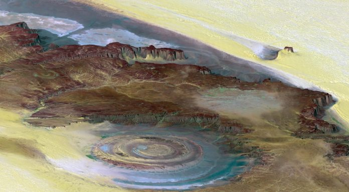 Whenever you're flying over Mauritania or passing above Africa, you must have a visit out the window and see if you can spot the Richat Structure.