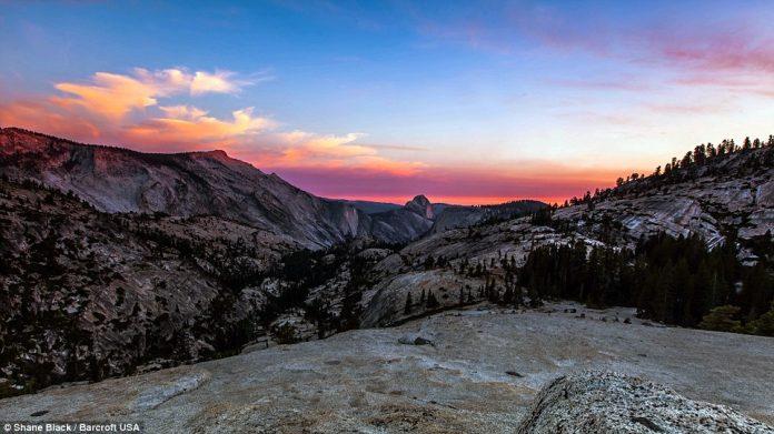 A beautiful mountain range in Yosemite National Park, California captured in 2013