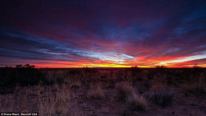 A beautiful sunset in Arizona taken in 2013