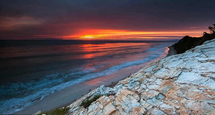 A haunting coastline in Santa Barbara, California